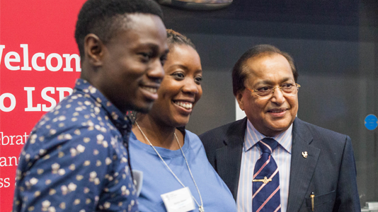 Dr Rami Ranger CBE meets LSBU students and alumni