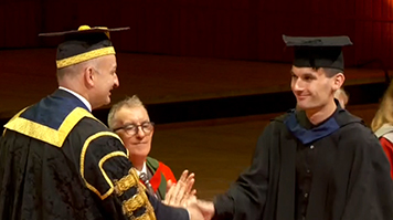 Thomas Kennedy at his graduation in October 2017