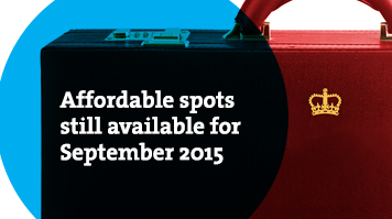 Affordable spots still available for September 2015