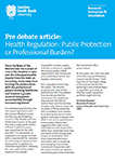 Thumbnail of healthcare regulation pre-debate article