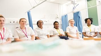 Nursing students seated