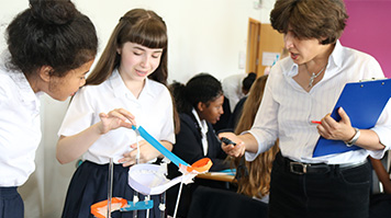 School students taking part in the International Women in Engineering Day at LSBU