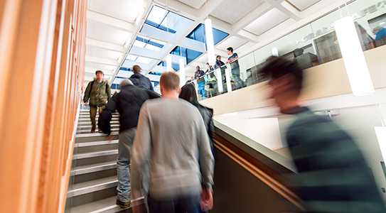 People at London South Bank University's (LSBU) Student Centre