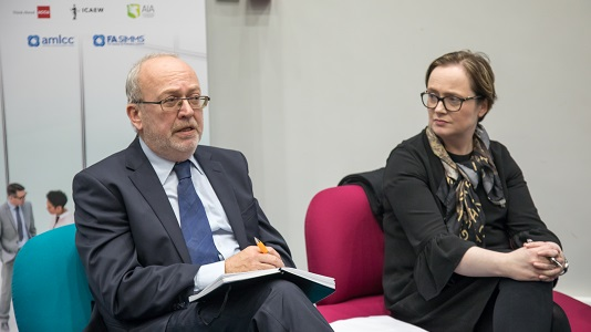 Maggie McGhee and Mark Protherough, speaking at the afternoon panel discussion