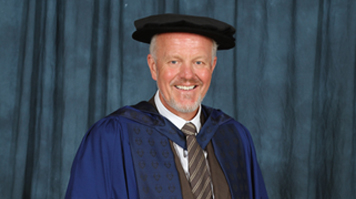 David Powell is awarded an Honorary Fellowship award at LSBU for his significant contribution to the baking industry