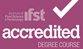 Logo for a degree approved by the Institute of Food Science and Technology (IFST)