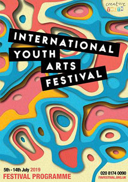 colourful programme cover for IYAF