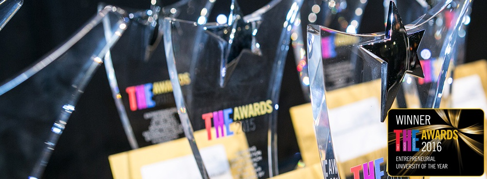 Winners of Entrepreneurial University of the Year - Times Higher Education Awards banner