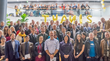 LSBU students, alumni, staff and external guests celebrate award win