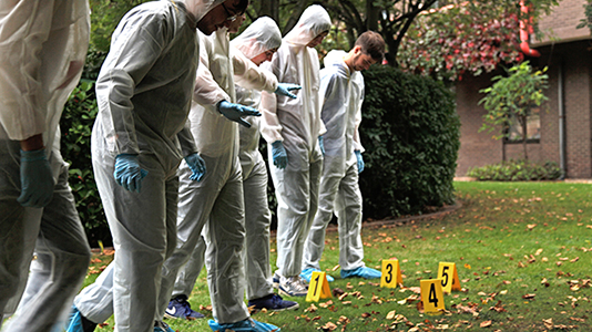 Prospective students at Forensic Science taster day