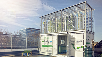 Urban container farming