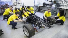 Engineering students working on the Formula Student competition
