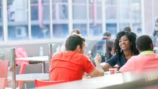 Students in the canteen