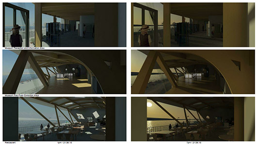 Student concept of daylight throughout the day