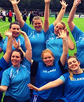 The women's rugby team at LSBU