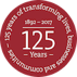 LSBU 125 years badge