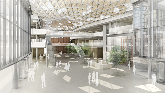 London South Bank University (LSBU) St George's Quarter development internal concourse