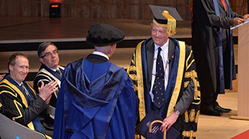 Douglas Denham St Pinnock attends LSBU graduation ceremony