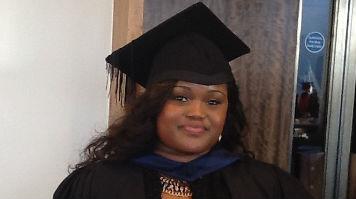 Oluwatosin at her graduation
