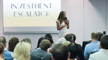 Investment Escalator participants at an event