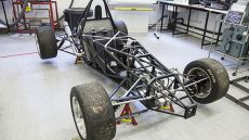 A vehicle being built by the Formula Student team