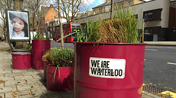 WeAreWaterloo barrels in Southwark