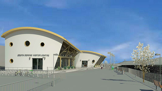 Student design for a visitor centre for the South Downs