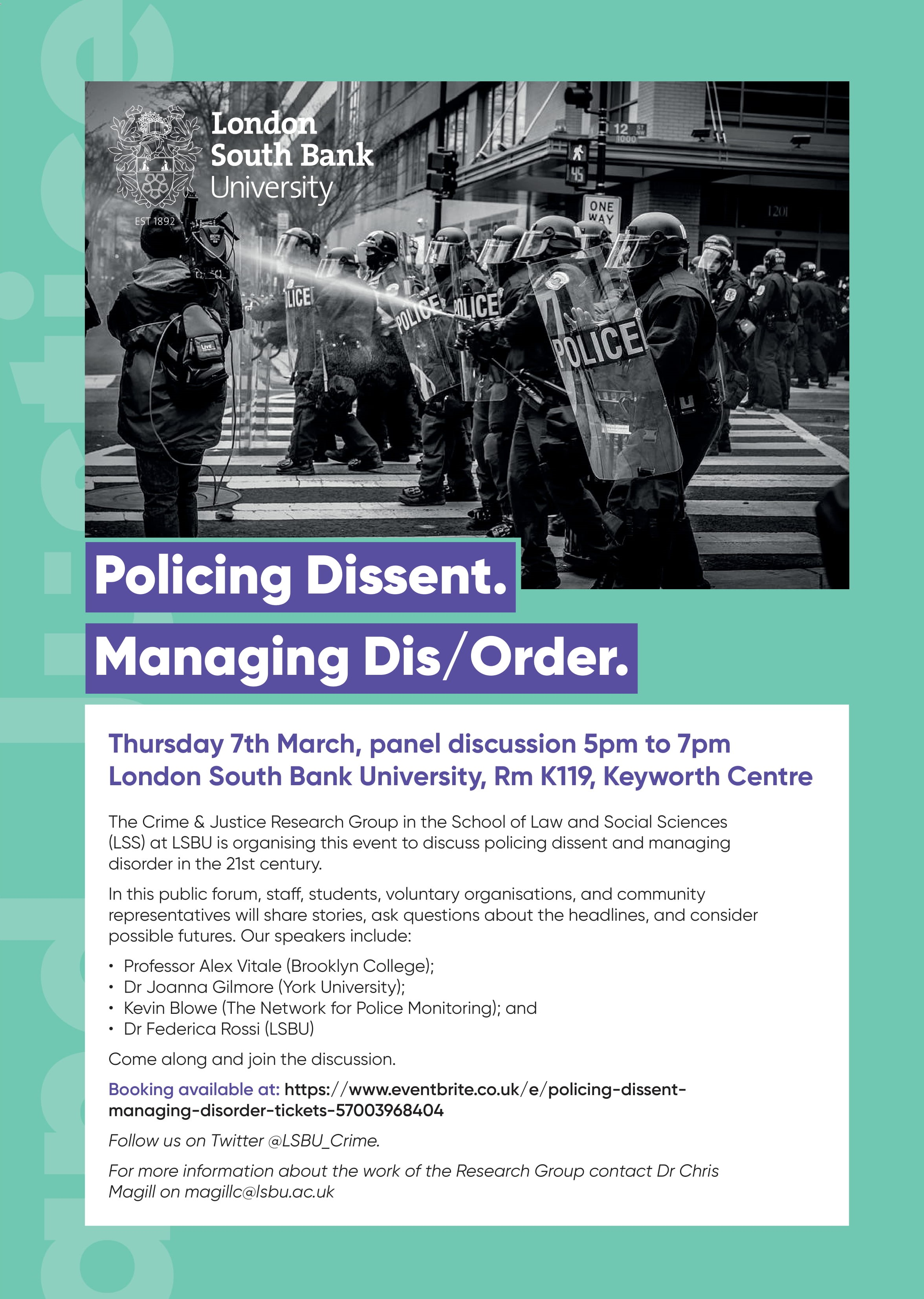 LSS-Policing dissent poster