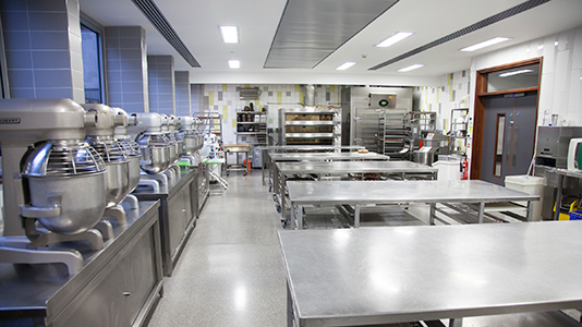 National Bakery School - industry kitchen