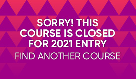 Course is not Recruiting for 2021 applicants