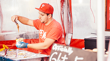 Rotsen Ibarra, alumnus, BA Business Management graduate and street food entrepreneur