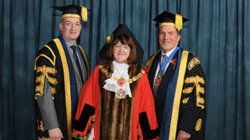 Simon Huges and the Lady Mayoress of Southwark, Catherine Rose
