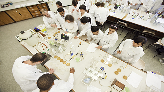 BTEC HND Applied Biology students learn practical biological skills