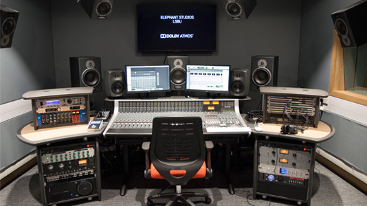 Sound studio control room
