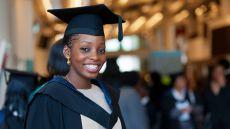 A smiling LSBU graduate