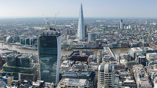 View of London looking south