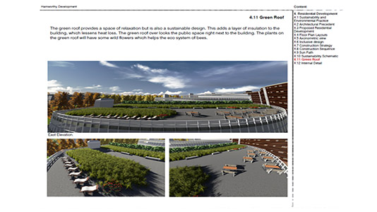 Design for a green roof space