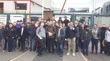 Field trip to Vauxhall Van plant, Luton
