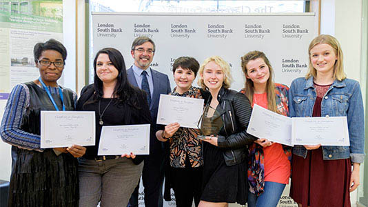 Prof. Paul Ivey with the Freelance category finalists