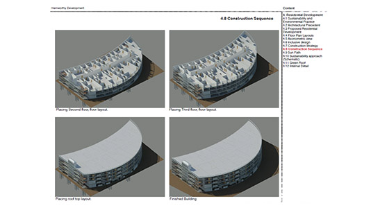 The construction sequence of a student design