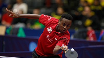 Ashley Facey-Thompson playing table tennis