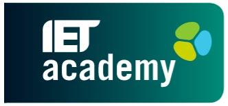IET academy logo