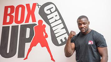 Graduate entrepreneur Stephen Addison at his social enterprise Box-Up Crime