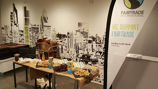A table of Fairtrade food