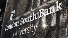 London South Bank University sign