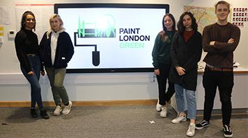Paint London Green film crew
