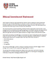Thumbnail of the Ethical Investment Statement
