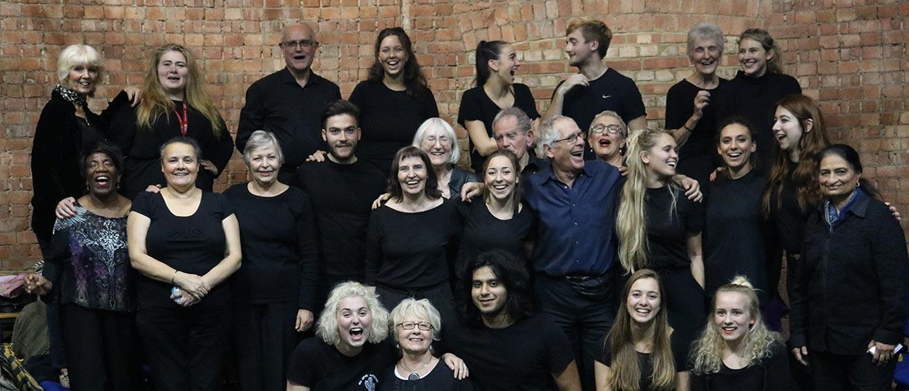 group of actors in workshop