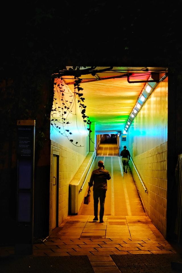 coloured tunnel