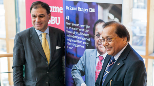 Dr Rami Ranger CBE and Lord Bilimoria